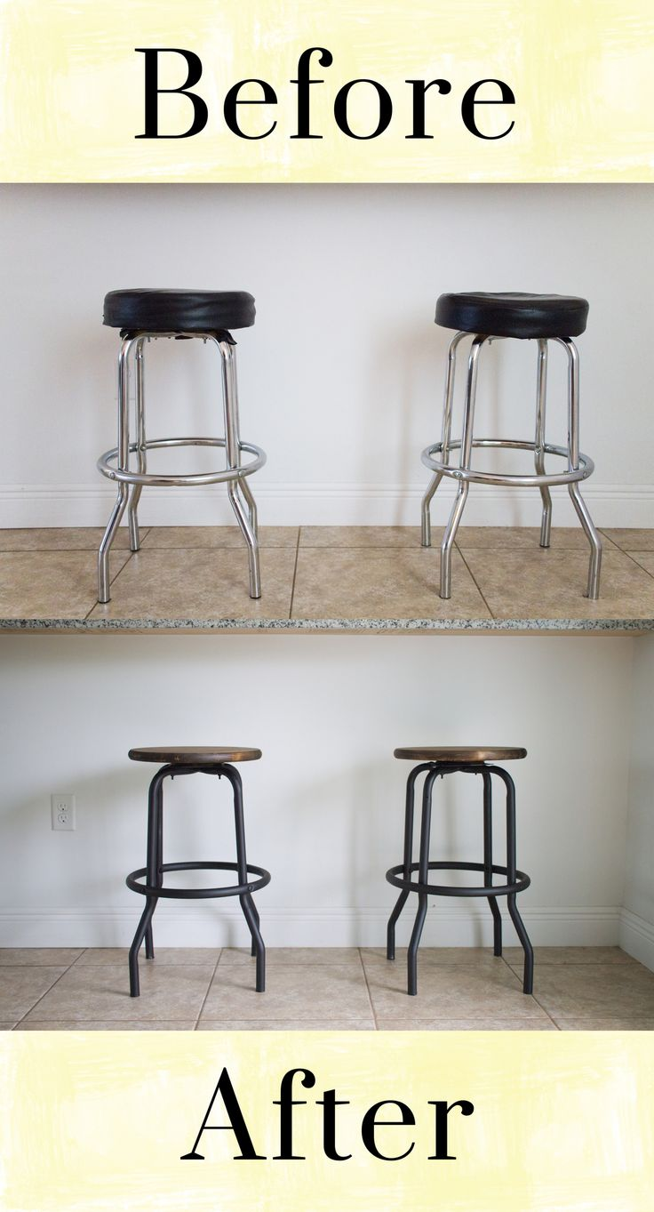 Outdated to Industrial Barstool Makeover DIY — Crafted To Create