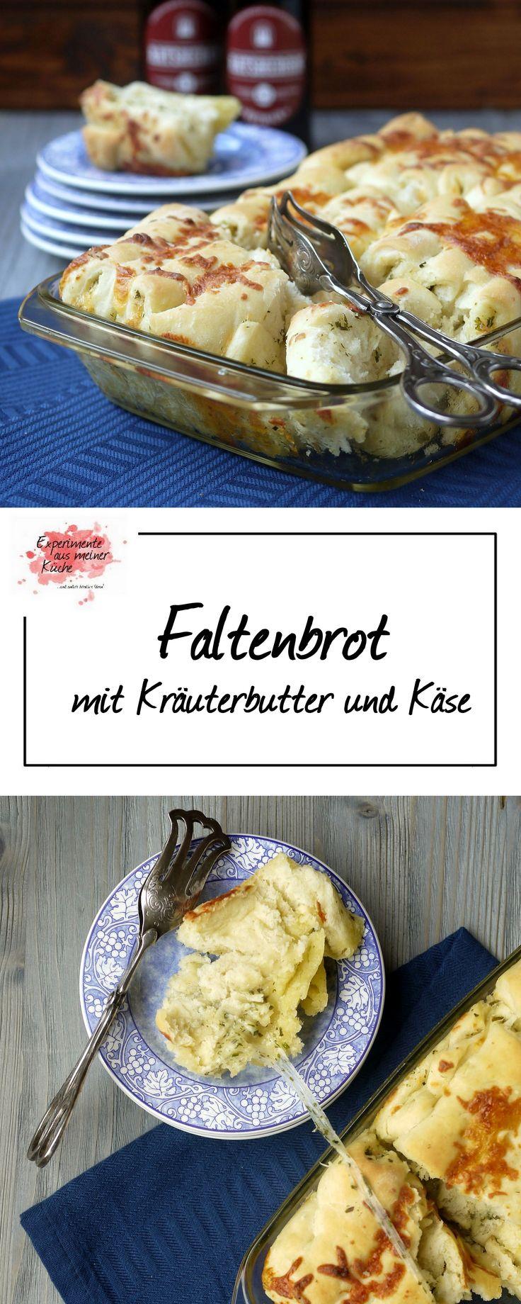 Faltenbrot mit Kräuterbutter und Käse | Brot | Rezept | Hefeteig | Grillbeilage