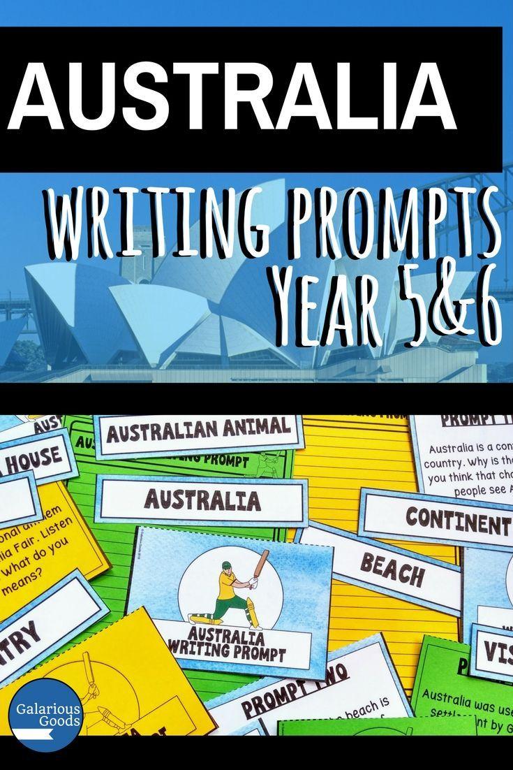 australia writing prompt cards australian themed classroom ideas rh pinterest com