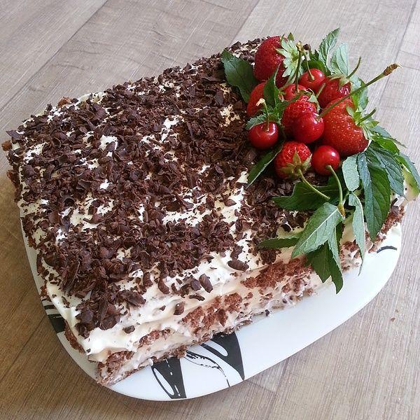 Кофейно-шоколадный торт «Бомба»
