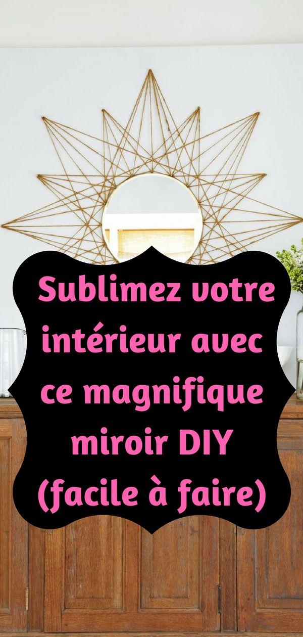Pour donner une nouvelle allure à votre salon, je vous conseille de fabriquer votre propre miroir. Vous allez donner une nouvelle vie à votre intérieur.#maison #maisoncontemporaine #diyhomedecor #diy #homedecor #décoration #déco #ideedeco #astuces #conseils #salon