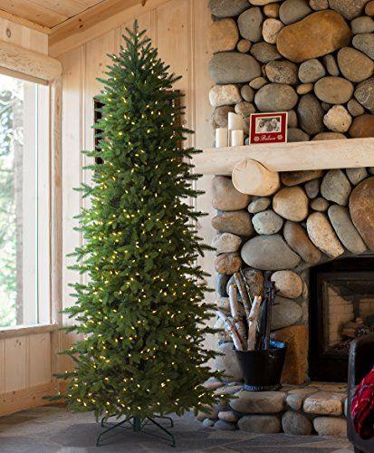 Tree Classics Oregonian Slim Artificial Christmas Tree, 9 Feet Prelit, Clear Lights