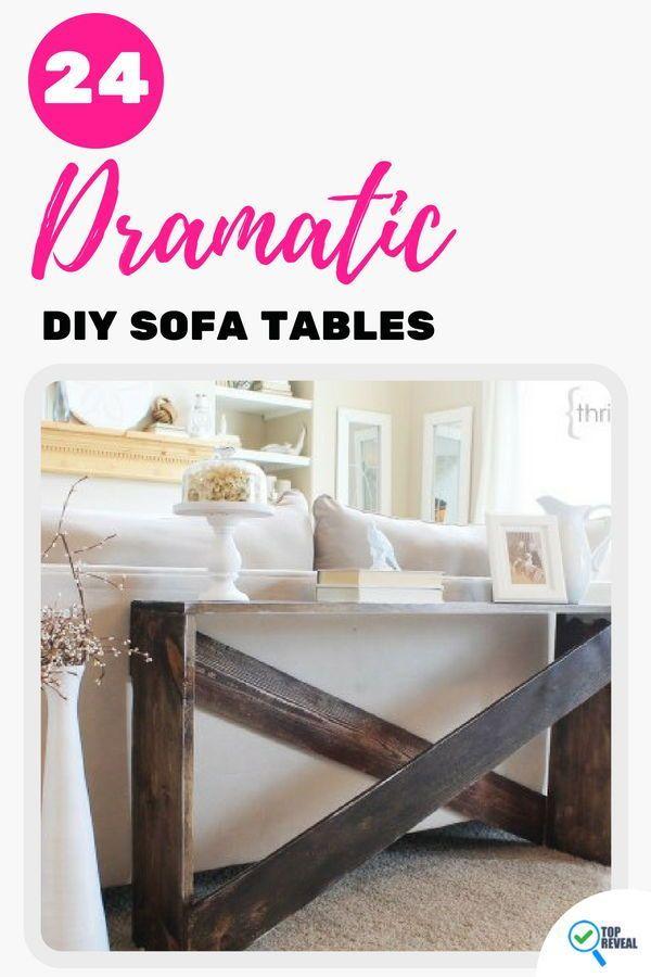 24 dramatic diy sofa tables anyone can build bloggers post it rh pinterest com