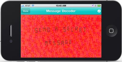 Create hidden messages using your phone; can print out