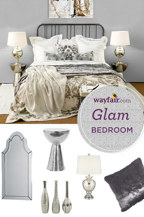 Beautify your bedroom space with glamorous accents