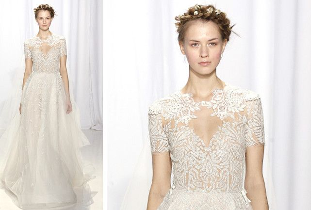 Os vestidos mais bonitos da semana de moda de noivas de NY. Confira os modelos de verão 2017.