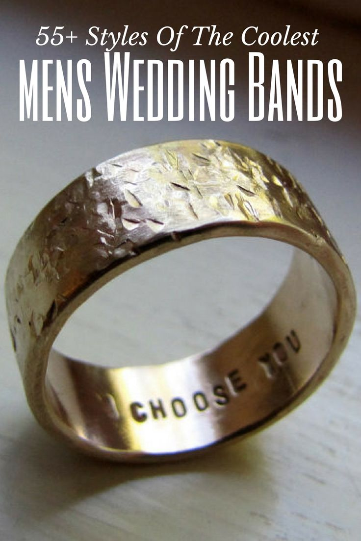 55+ Styles of the coolest and most unique mens wedding bands #coolestmensweddingrings https://www.loveandlavender.com/unique-mens-wedding-bands/
