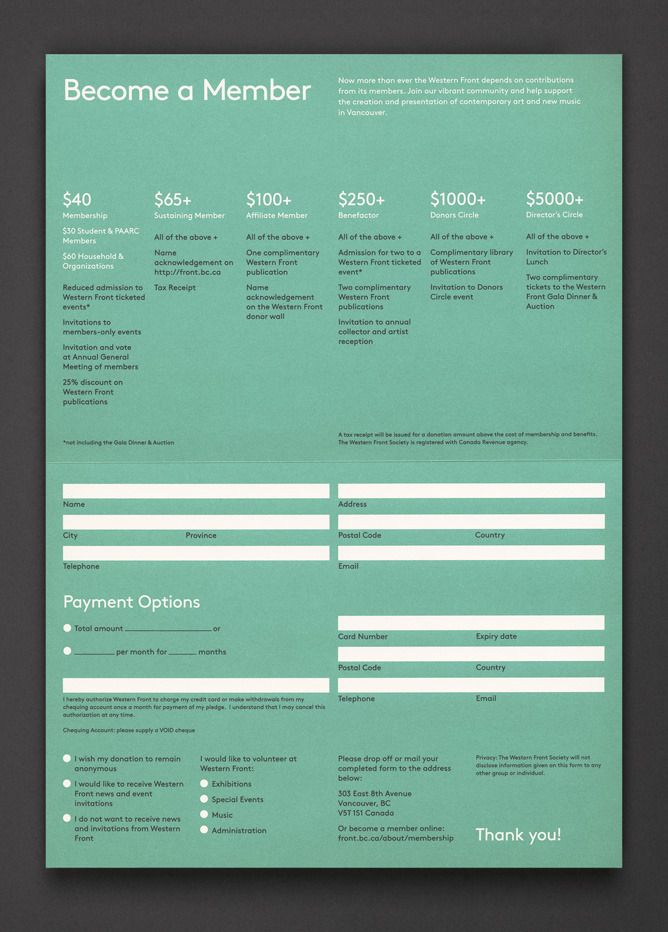 21 best business forms images on pinterest invoice for Membership brochure template