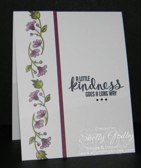 Stampin' Up! Bordering Blooms card