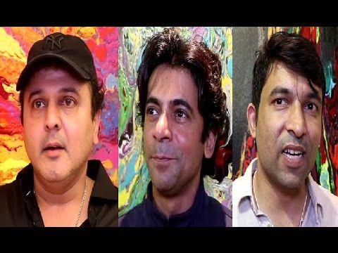 Kapil Sharma's team Sunil Grover, Ali Asgar & Chandan Prabhakar at Anu Malhotra show Flow Dreams.