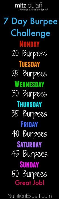 7-Day Burpee Challenge to help you lose weight!