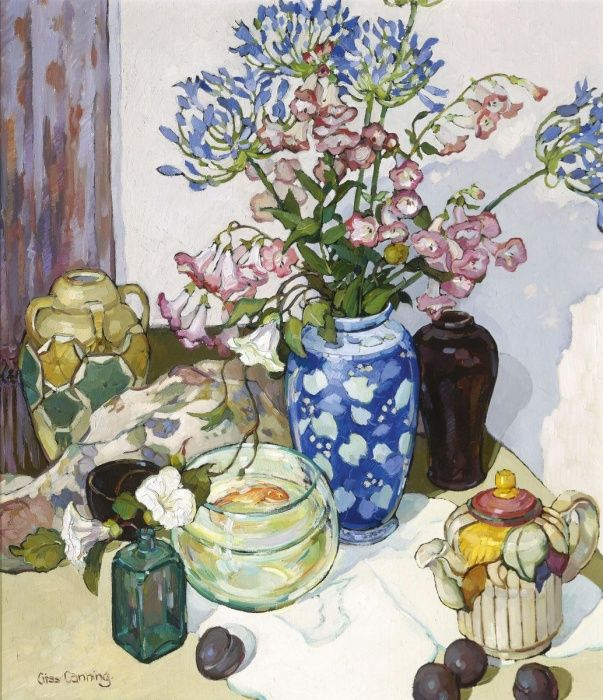 Agapanthus and Penstemon by Criss Canning