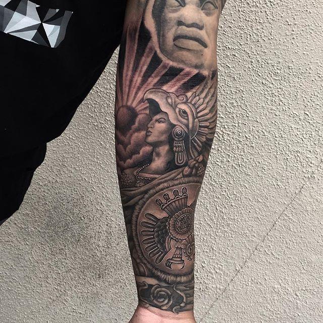 13 Tatuajes aztecas para hombres