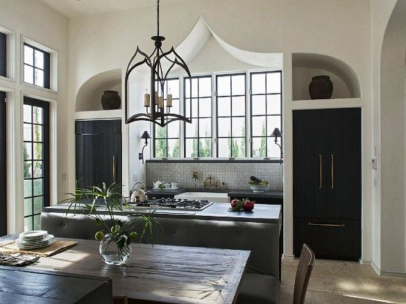 Kitchen with Moroccan-inflected details.
