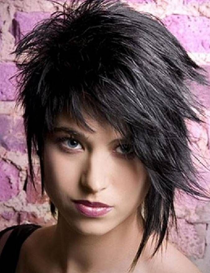 High Quality Edgy Short Hairstyles With Layered For Black Straight Hair