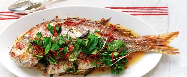 Asian-flavoured whole snapper recipe, brought to you by MiNDFOOD.