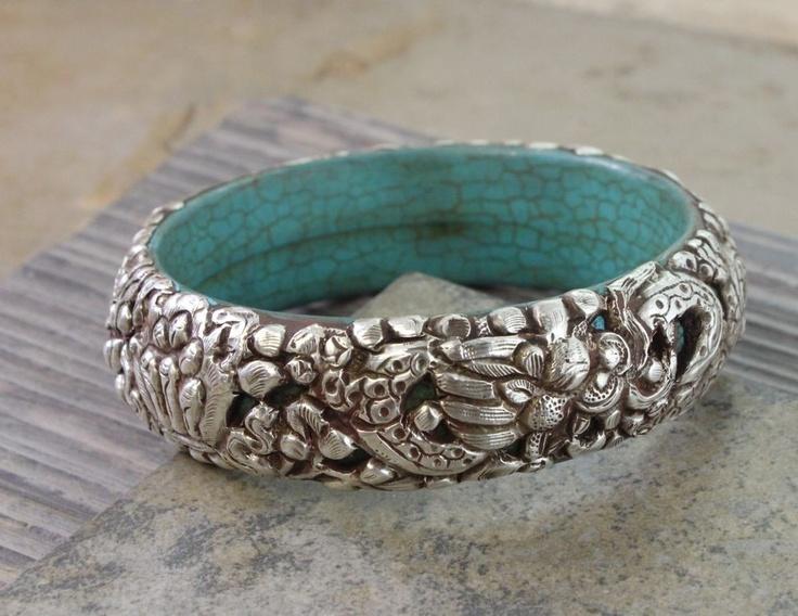 Dharmashop.com - Dragon Turquoise Tibetan Silver Bracelet, $160.00 (http://www.dharmashop.com/dragon-turquoise-tibetan-silver-bracelet/)
