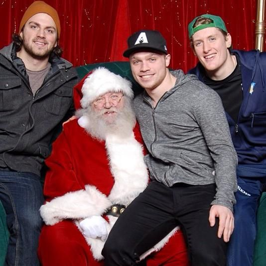 Coyotes prospect Max Domi, currently playing in the OHL, met Santa Claus over the holidays!