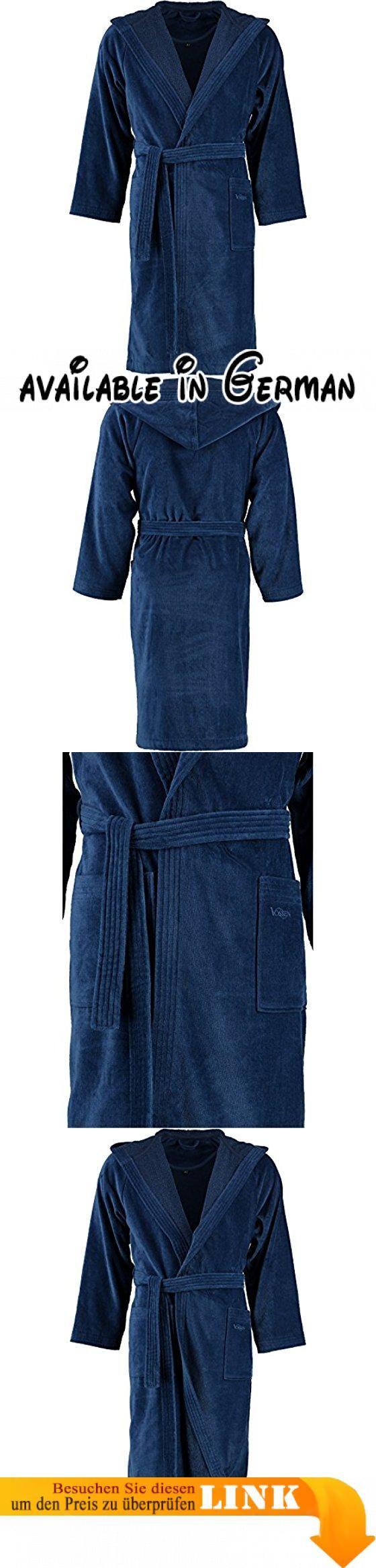 Vossen Bademäntel unisex Velours Texas XL. Art: uni. Bleichen: Bleichen nicht erlaubt. Bügeln: Bügeln mit geringer Temperatur. Design: Texas. Farbe: blau #Küche & Haushalt #HOME_BED_AND_BATH