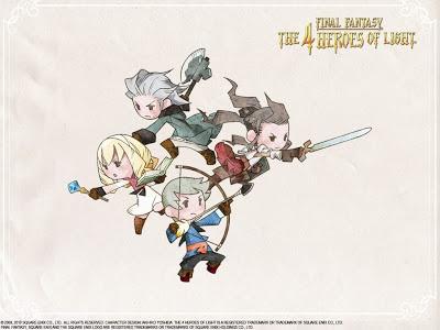 Final Fantasy 4 Heroes of Light Wallpaper Updated