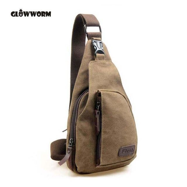 Mega Deal $5.80, Buy GLOWWORM 2017 New Fashion Man Shoulder Bag Men Canvas Messenger Bags Casual Travel Military Messenger Bag sac a main CX377
