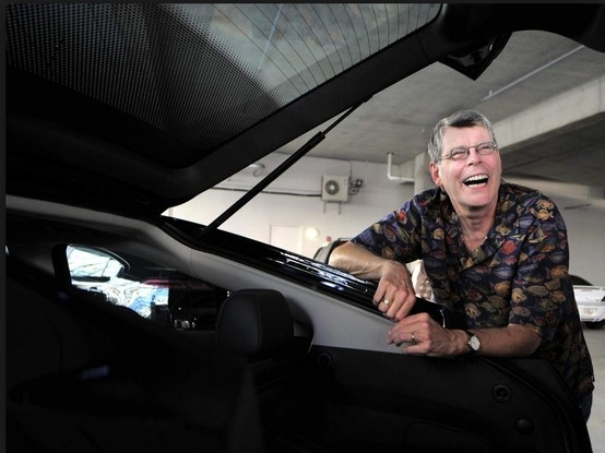 "Famous horror author Stephen King loves his extended-range electric Chevy Volt.  ""I just love charging because it's like saying to the oil cartel, 'Here, stick this in your eye.' It's like a license to steal!""  ~ Stephen King http://green.autoblog.com/2011/05/04/stephen-king-thinks-chevy-volt-is-scary-good/ *For more info on extended-range electric trucks, vans & SUV's, visit http://www.viamotors.com & http://www.facebook.com/viamotors #electriccars #electricvehicles #chevyvolt…"