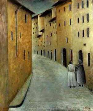 Ottone Rosai - Via Toscanella (florence) 1922