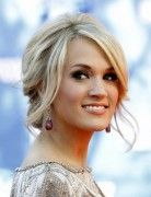 Carrie Underwood Messy Updo Hairstyles 2014