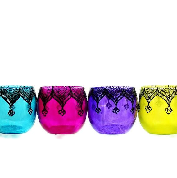 Moroccan Votive Holder with Fuschia Pink Glass and by LITdecor, $10.00