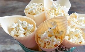 This is a fun snack and is perfect with champagne.