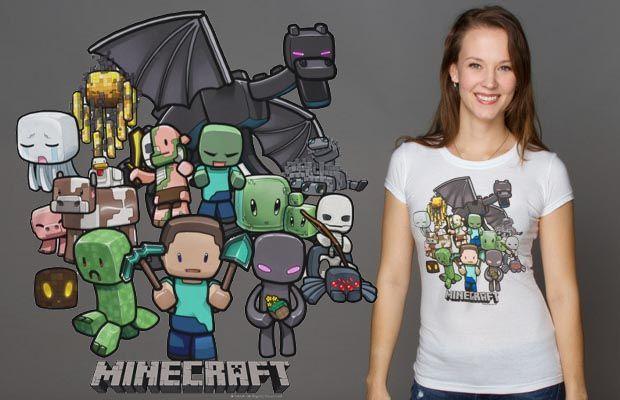 Minecraft Party T-Shirt http://tshirtonomy.com/minecraft-t-shirts