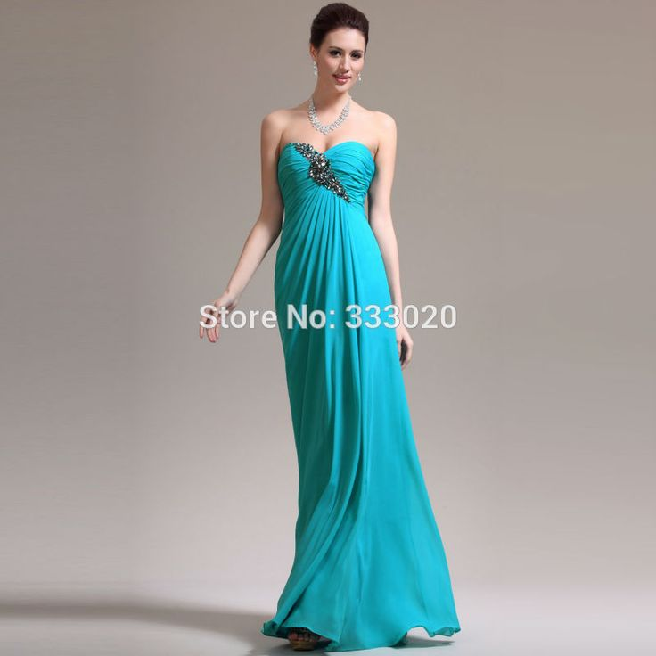 Beaded  Chiffon Turquoise Party Dress Long Maternity Formal Evening Gown for Pregnant Women abendkleider
