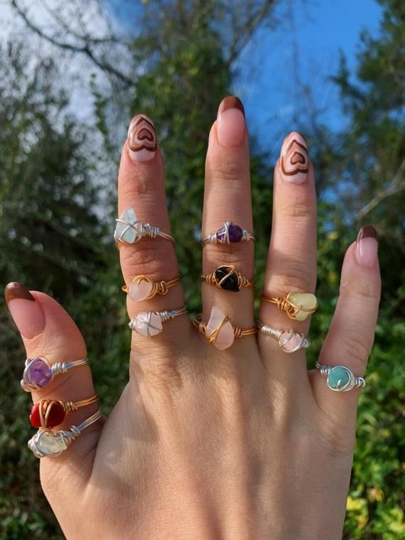 gemstonecrystal wire wrapped ring tarnish resistant