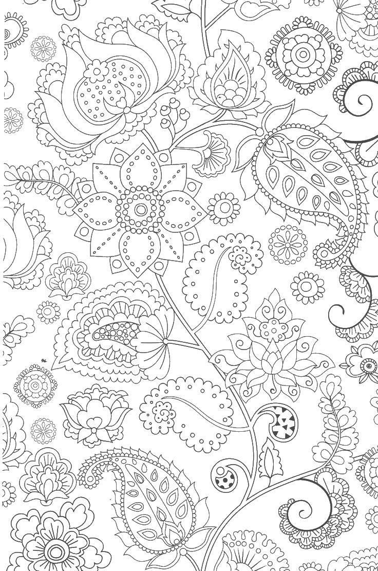 Lalaloopsy coloring pages printable - Flowers Paisley Coloring Page