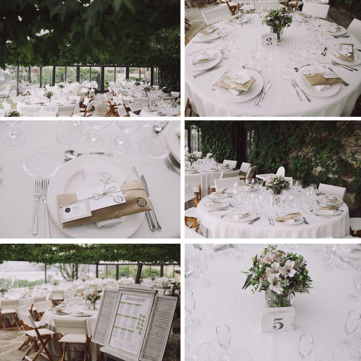 Decoración boda. Meseros. Arreglos florales. Rectoral de cobres.  Bodas Galicia