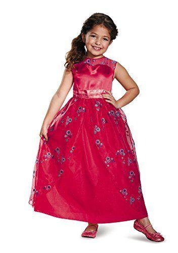 Disguise Elena Ball Gown Classic Elena of Avalor Disney Costume, Medium/7-8
