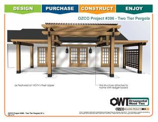 OZCO Project Two Tier Pergola - #396  With two grown kids out of the house, John and Stephanie Eberle agree it's time to downsize and look for the perfect place to relax as they enter retirement. See detailed instruction on which OWT products were used and how to properly install them to construct the Eberle's Two Tiered Pergola on Season 4 Episode 4 of Fixer Upper. Or use this guide and alter it to fit your specific project! Project #396
