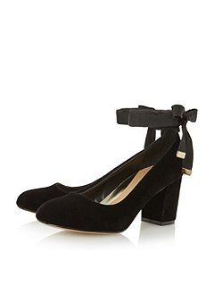 Head Over Heels Avandra bow tie detail court shoes Black - House of Fraser