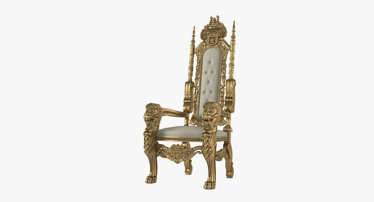 3D Lion King Throne Chair Model - 3D Model