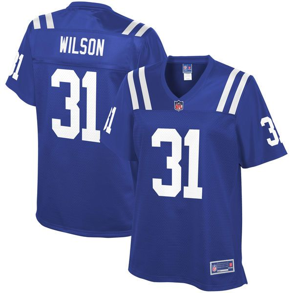 quincy wilson indianapolis colts nfl pro line womens player jersey royal 99.99 colts 19 johnny unita