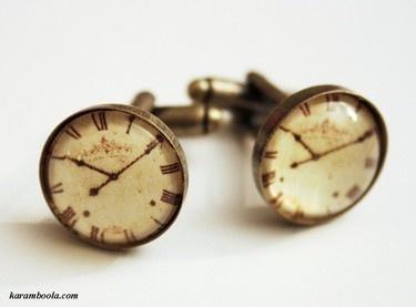 time piece cuff links