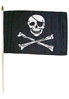 Pirate (Regular) Traditional Flag and Flagpole Set