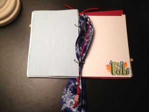 The ladies in my critique group are SO crafty. This is a DIY writing journal that the Geeky Lady created as a high school graduation present. Blue and red--hs schools and girl's name was HAILEY. More pics at link.