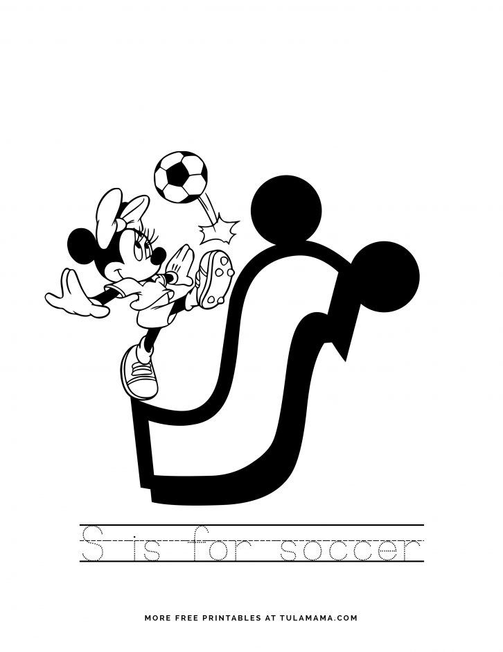 Free Printable Mickey Mouse Abc Letter Tracing For Preschoolers In 2021 Mickey Mouse Abc Disney Coloring Pages Tracing Letters