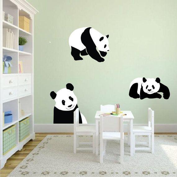 Panda Bear Wall Mural Decal Bear Wall Art Sticker Panda