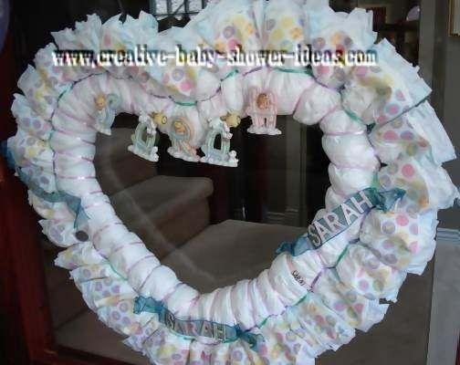monkey diaper wreath