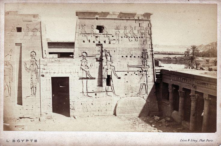 Auguste-Rosalie Bisson - Philaé, Great Temple, 1869