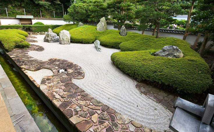 The Famous Rock Garden At Komyoji In Kamakura With Its Eight Rocks  Representing Buddhist Divinities And Saints. Picture By Urashimataro.