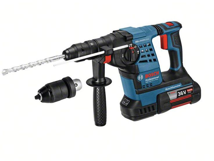 Bosch GBH 36 VF-LI 36v SDS Hammer Drill Kit 2 x 4.0ah with Quick Chuck. This GBH 36 VF-LI Plus has 3 functions: drilling, hammering and chiselling.