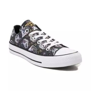 3f2dc90fb74ae9 Journeys  Converse All Star Lo- Sugar Skull Cats. (Reminds me of Cheshire